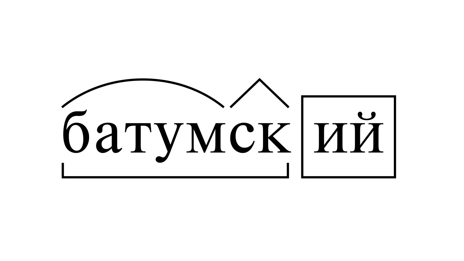 Разбор слова «батумский» по составу
