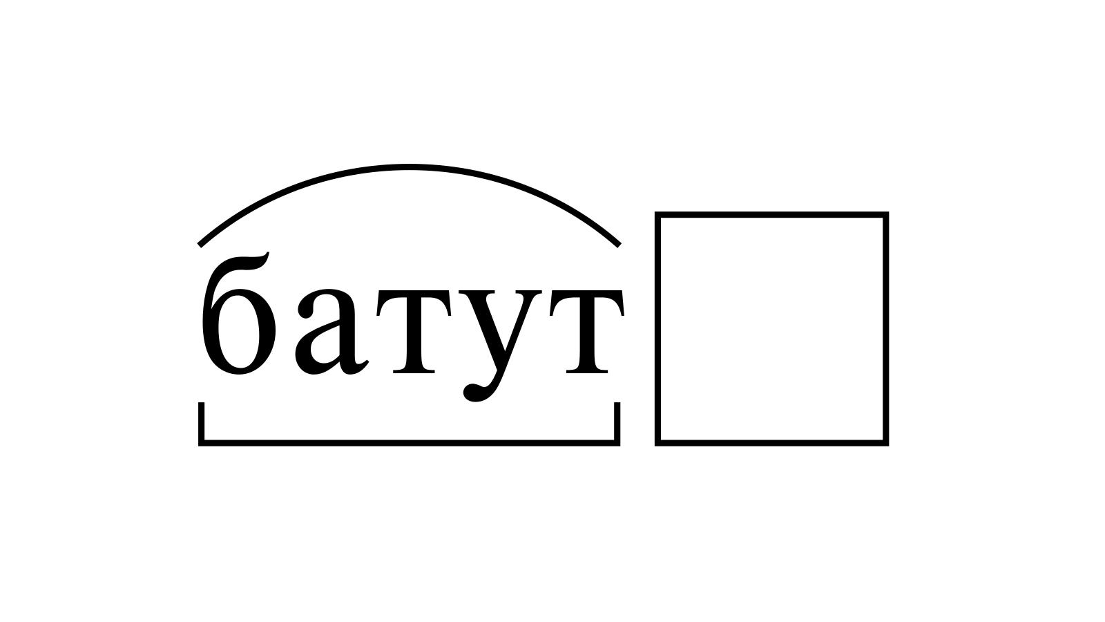 Разбор слова «батут» по составу