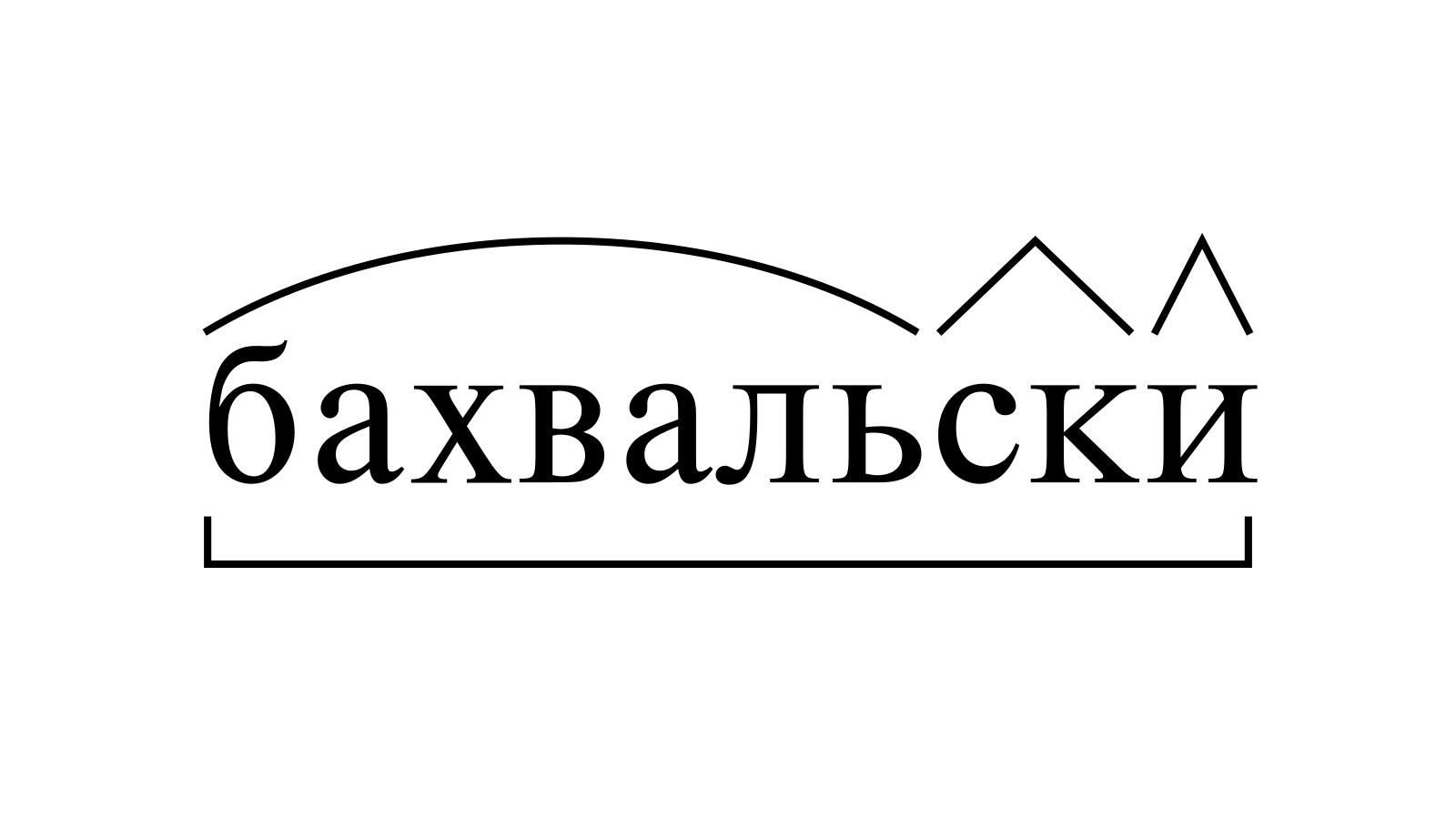 Разбор слова «бахвальски» по составу
