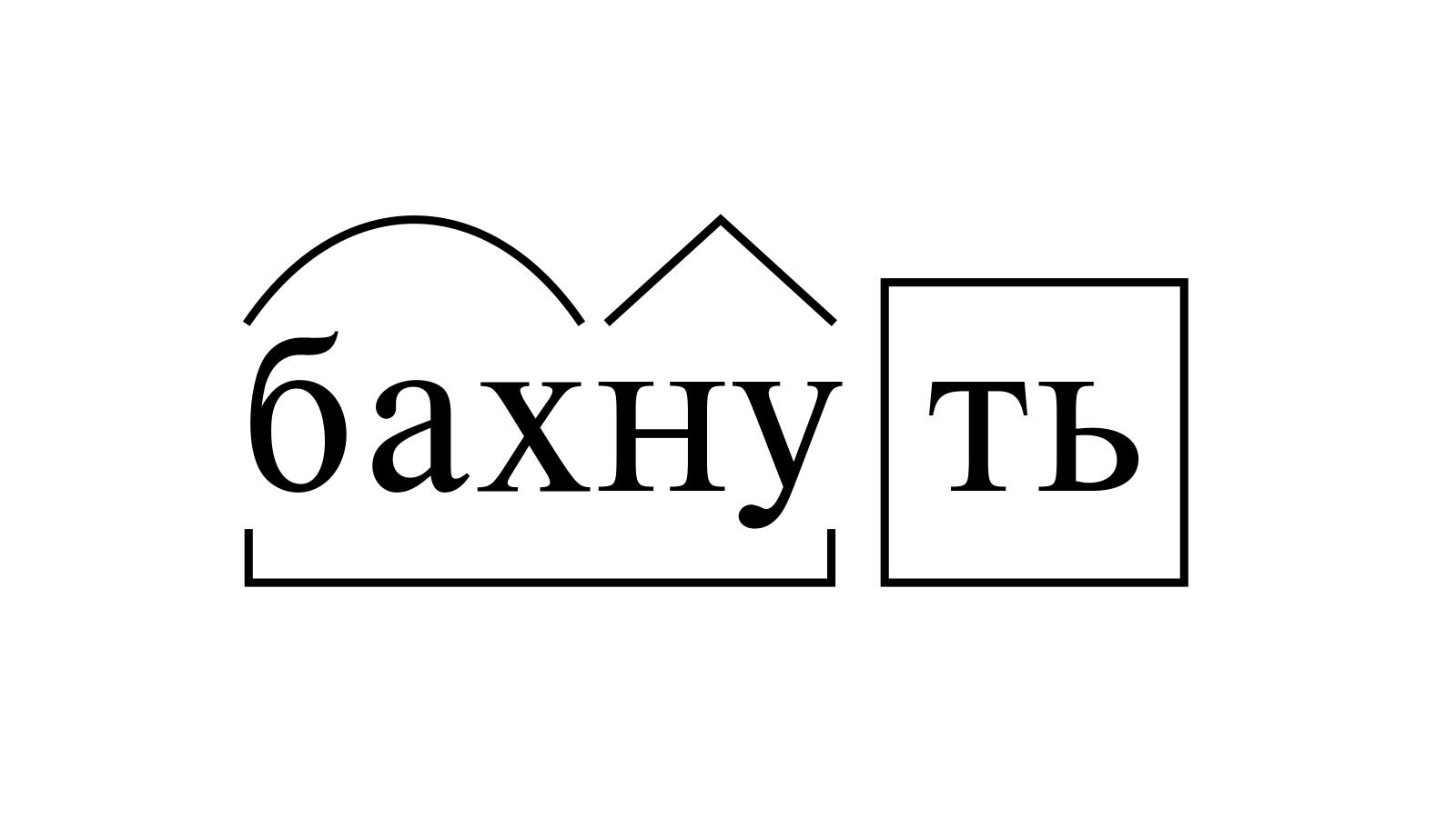 Разбор слова «бахнуть» по составу