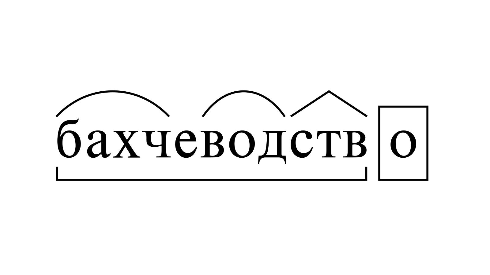 Разбор слова «бахчеводство» по составу