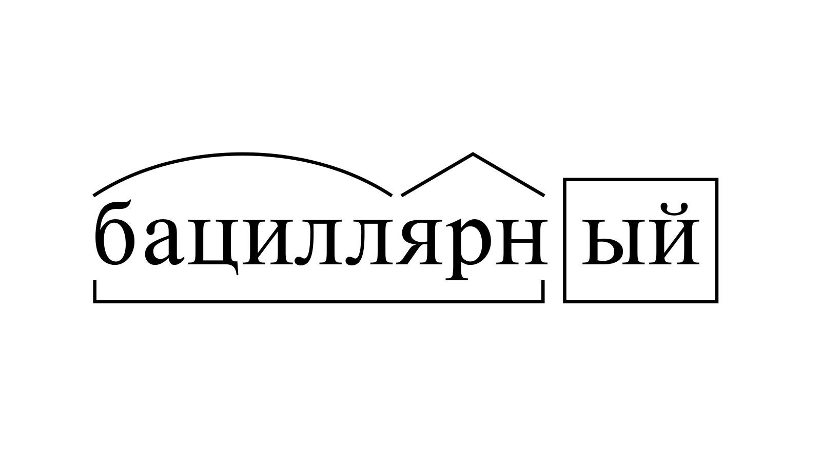 Разбор слова «бациллярный» по составу