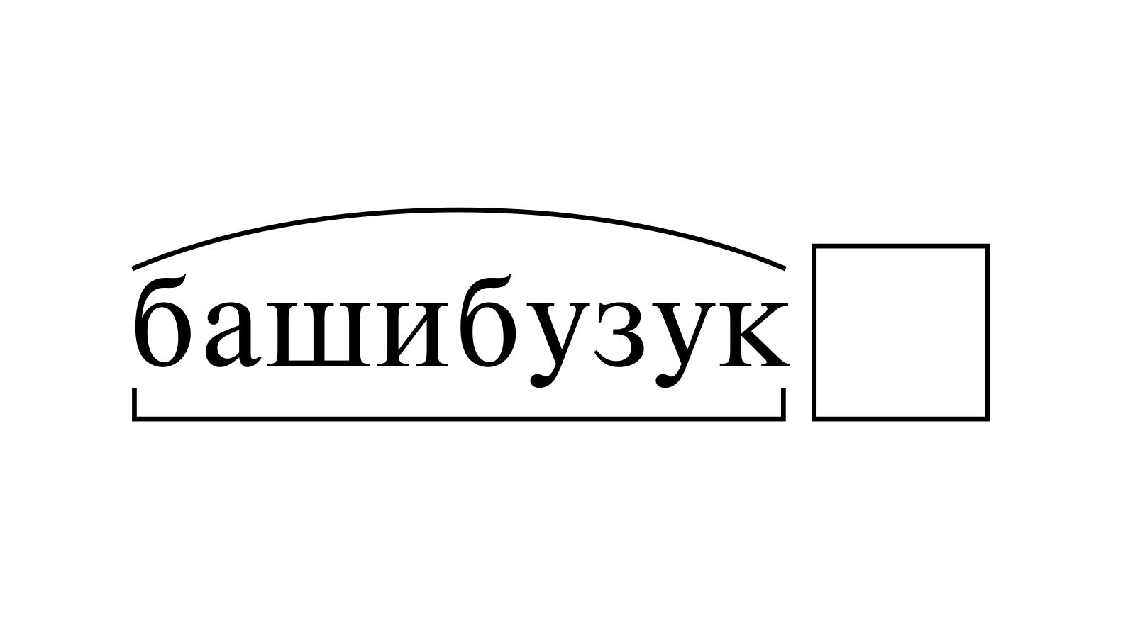 Разбор слова «башибузук» по составу