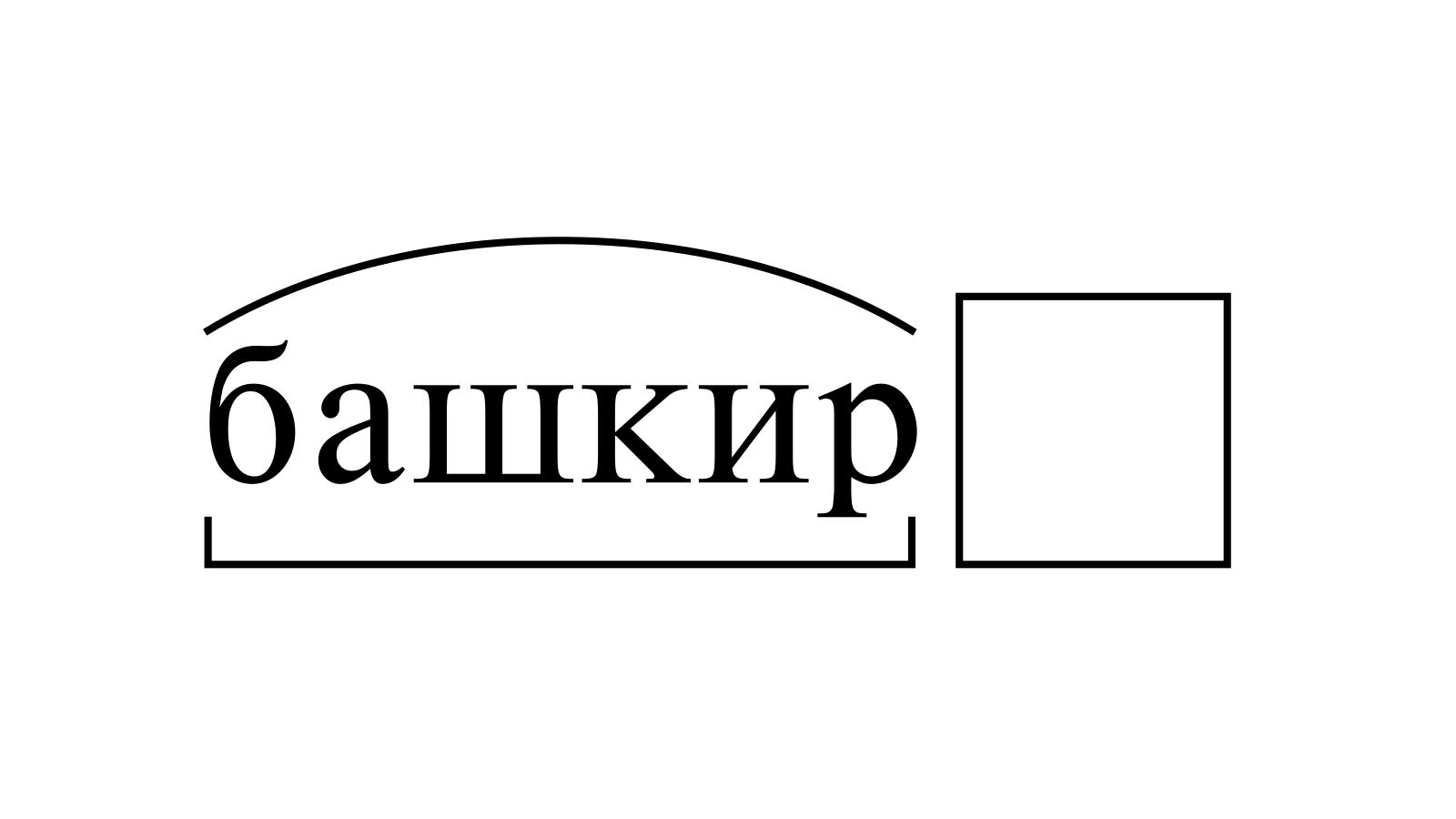 Разбор слова «башкир» по составу