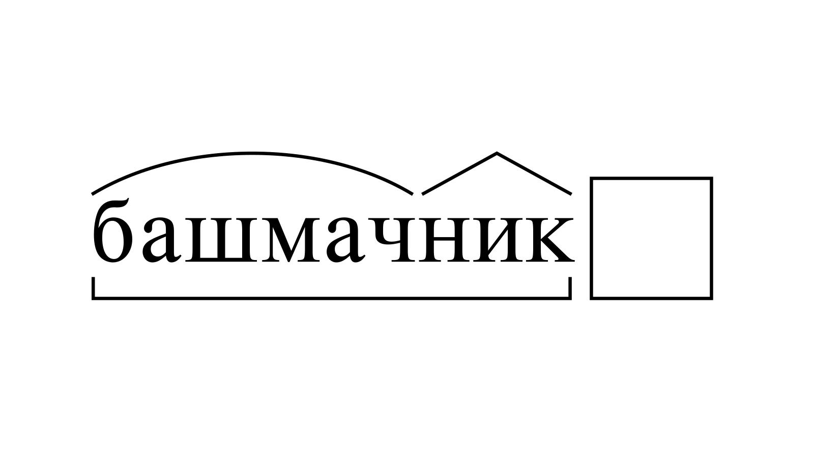 Разбор слова «башмачник» по составу