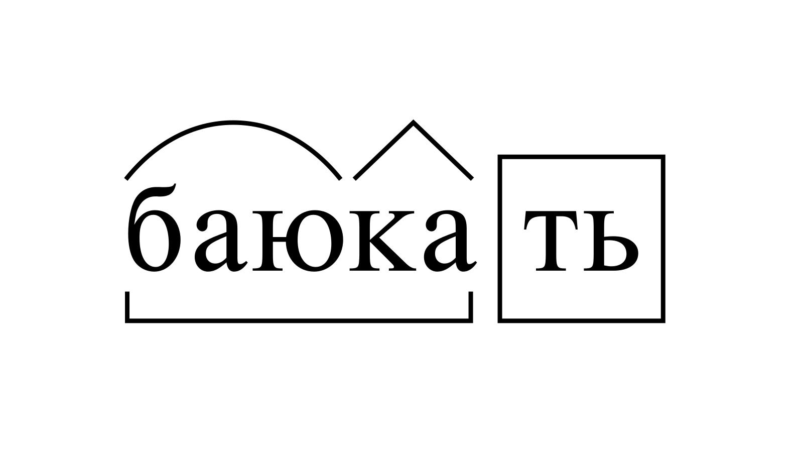 Разбор слова «баюкать» по составу