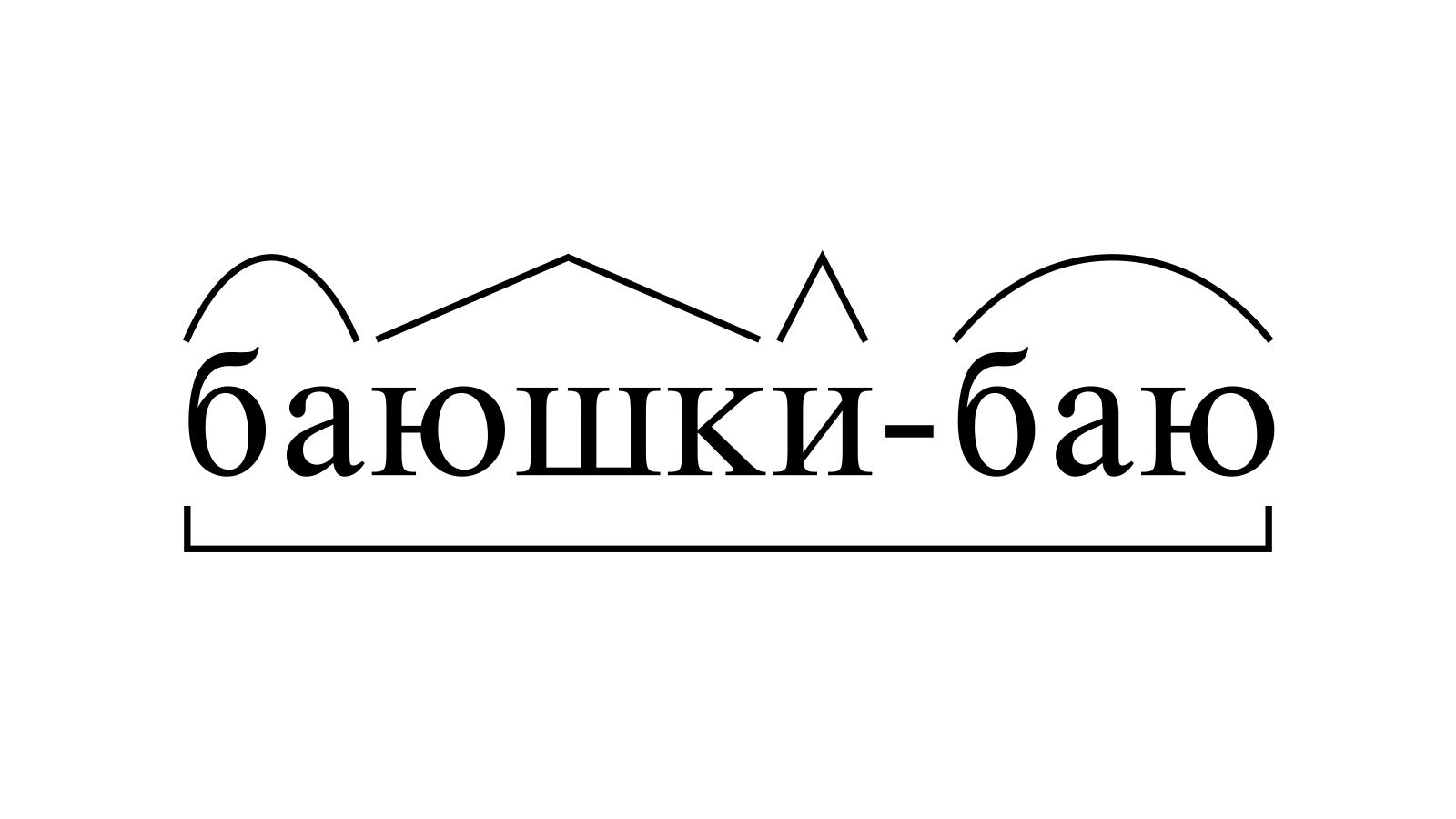 Разбор слова «баюшки-баю» по составу
