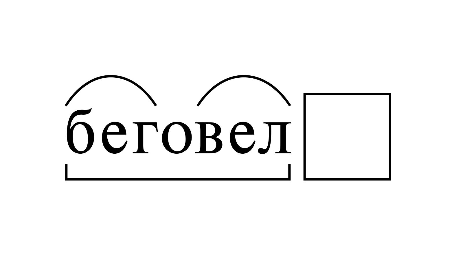 Разбор слова «беговел» по составу