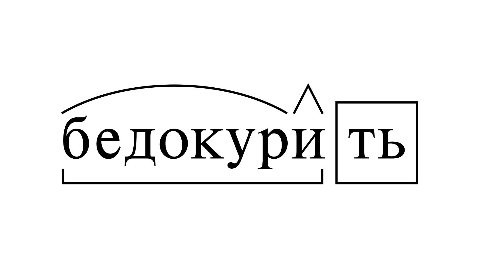 Разбор слова «бедокурить» по составу
