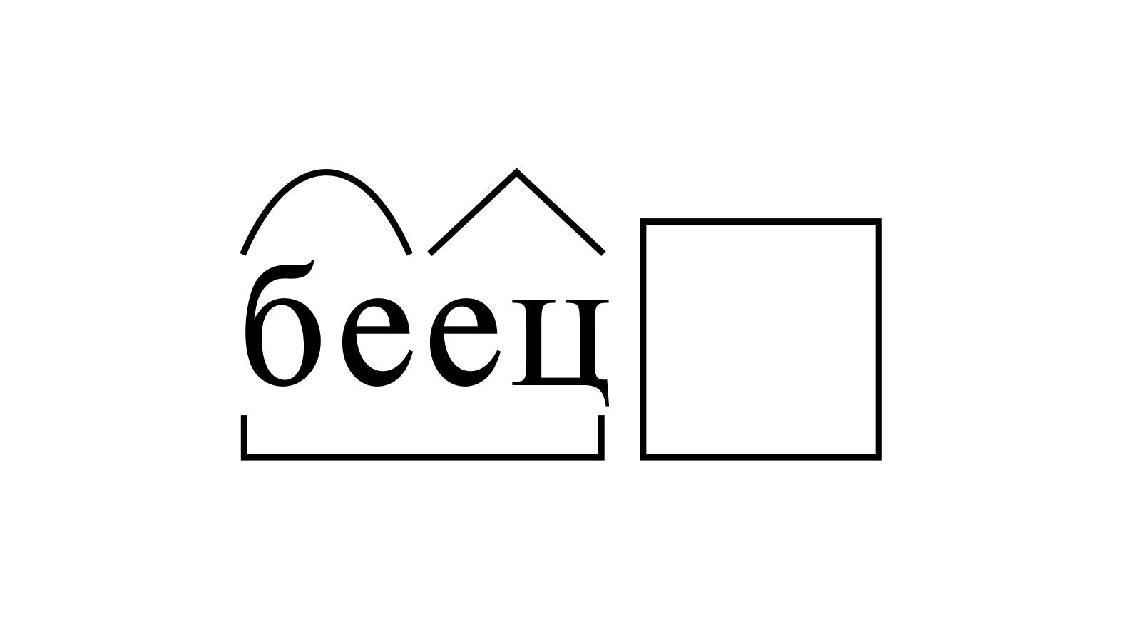 Разбор слова «беец» по составу