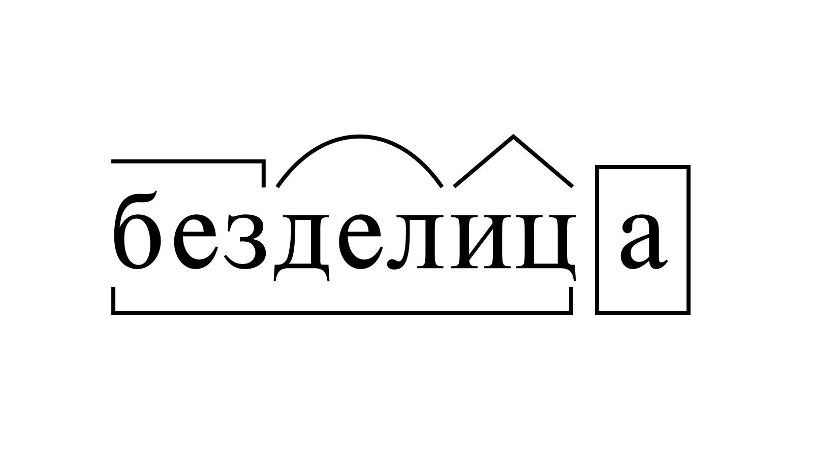 Разбор слова «безделица» по составу