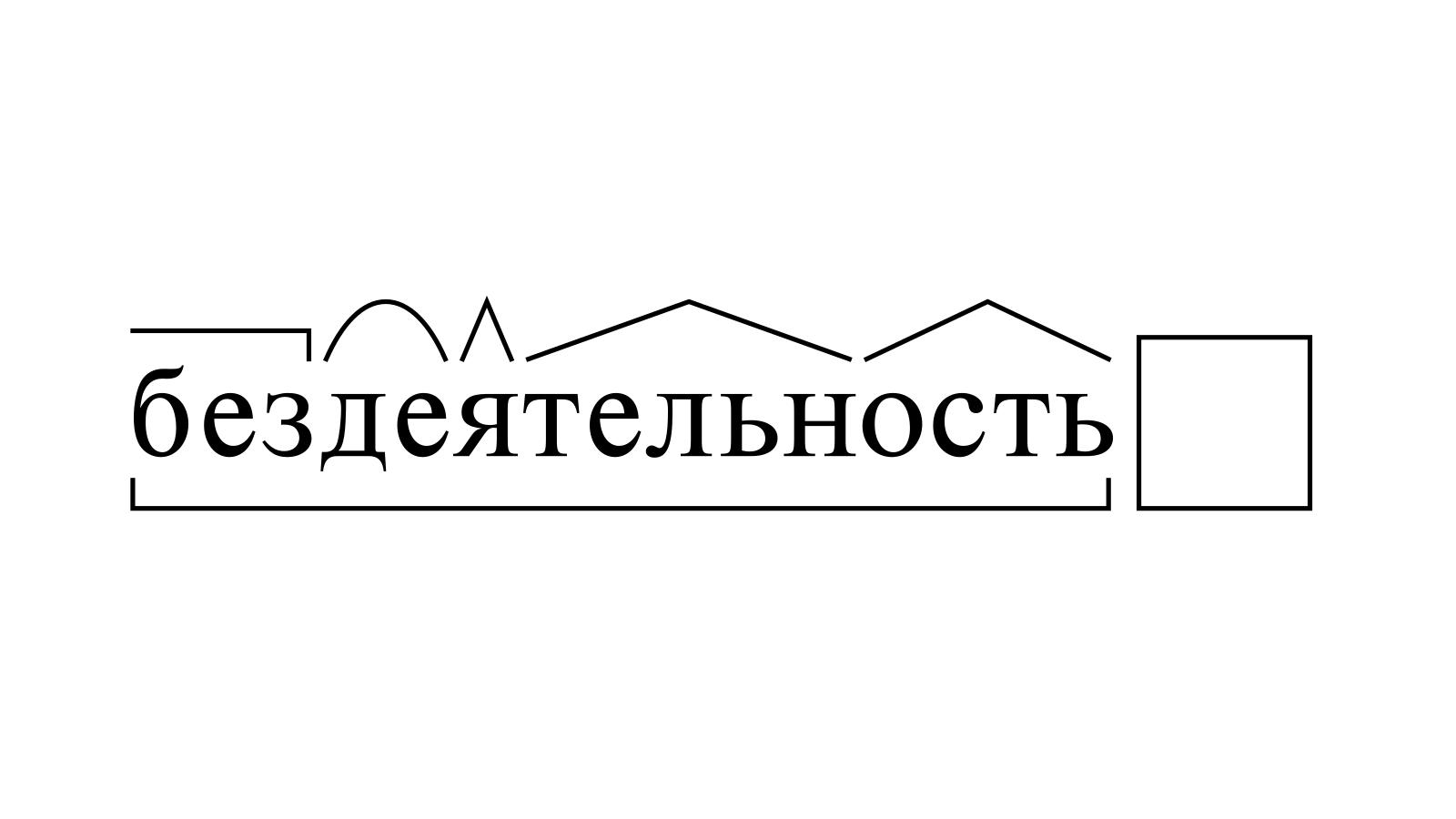 Разбор слова «бездеятельность» по составу