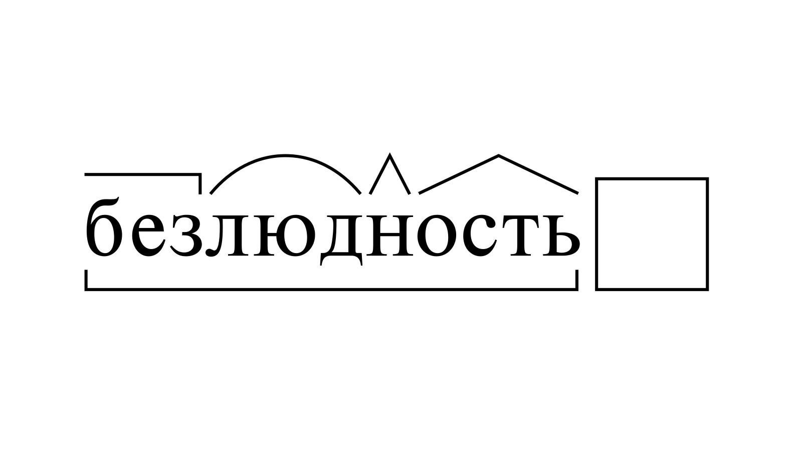 Разбор слова «безлюдность» по составу