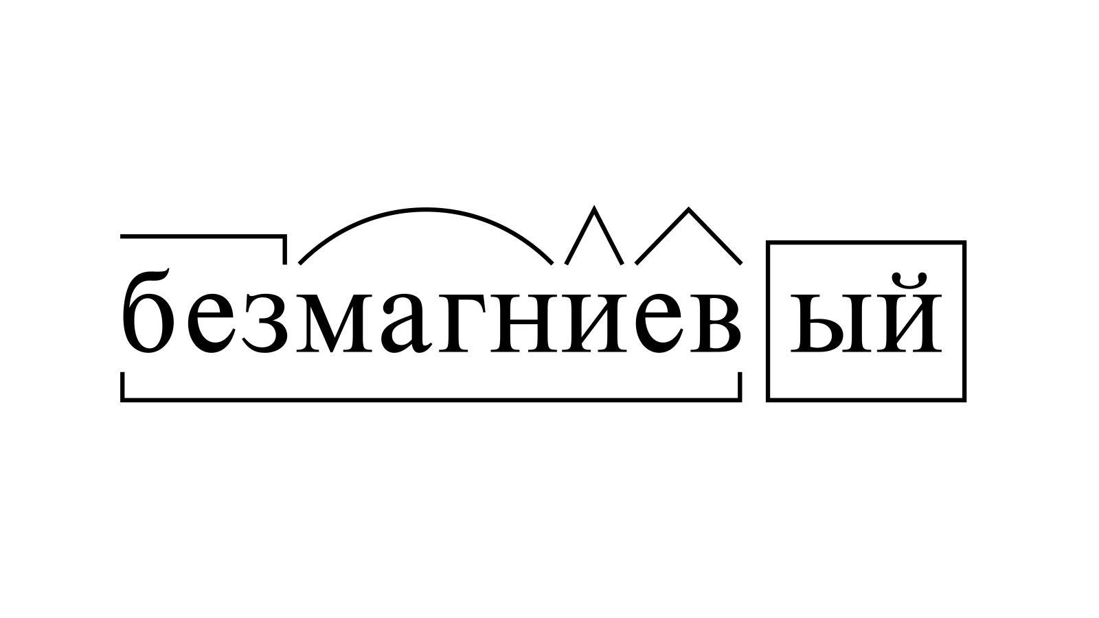 Разбор слова «безмагниевый» по составу