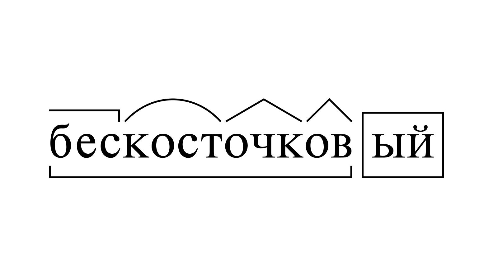 Разбор слова «бескосточковый» по составу