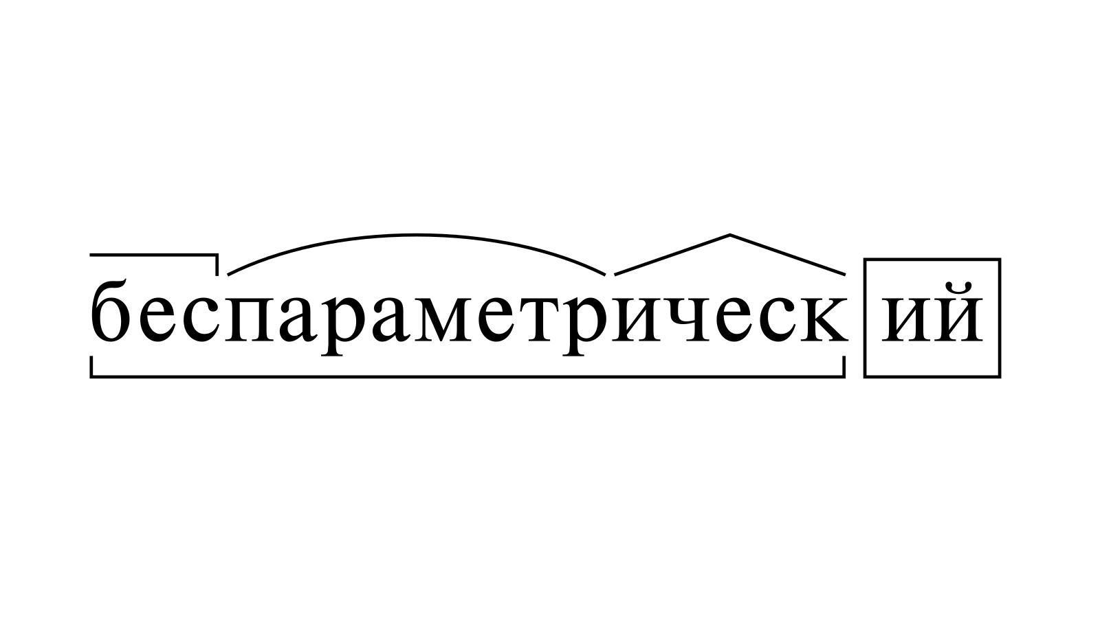 Разбор слова «беспараметрический» по составу