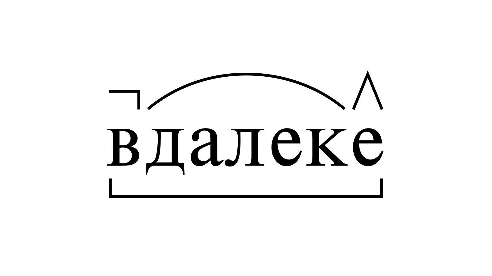 Разбор слова «вдалеке» по составу