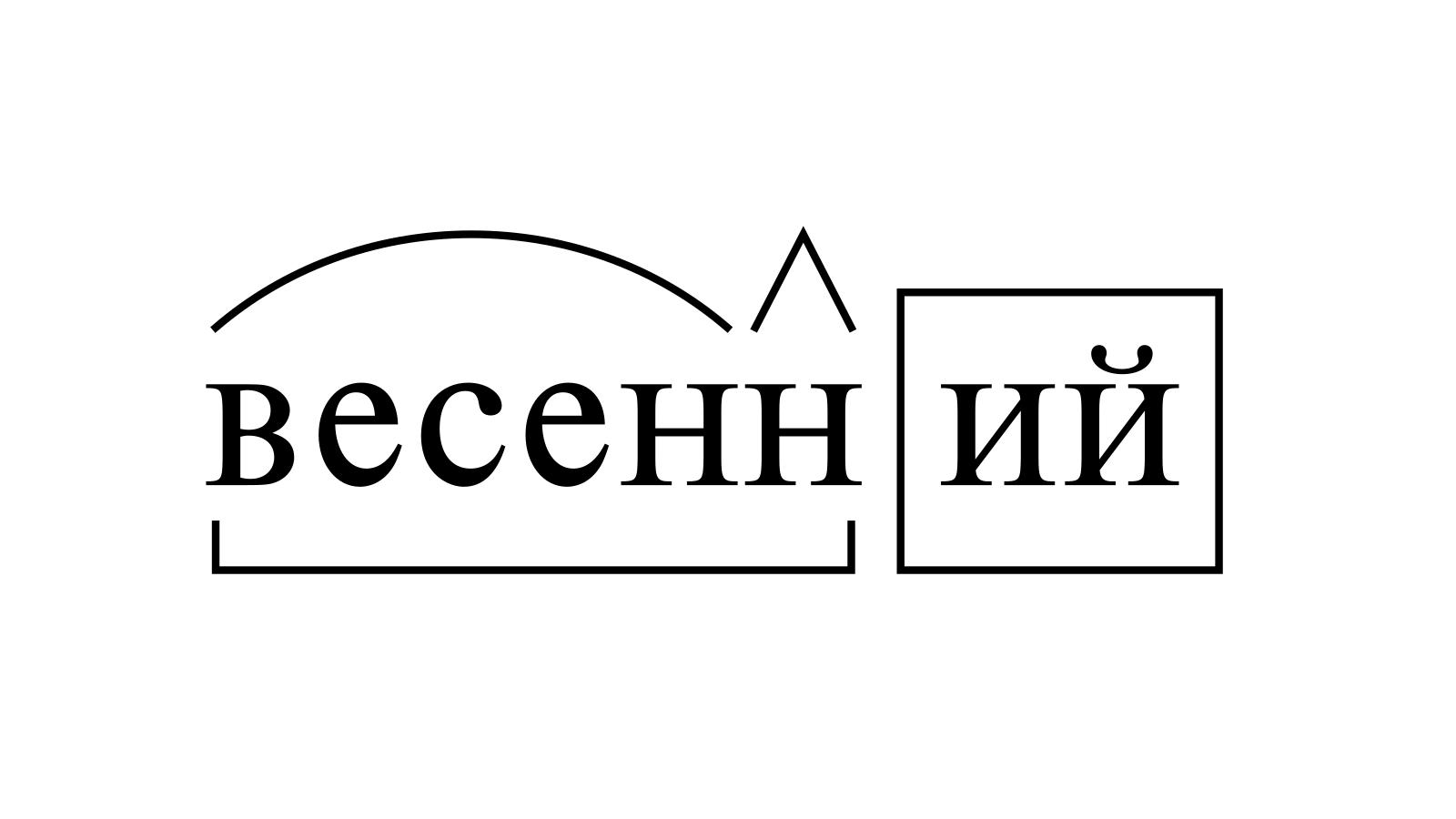 Разбор слова «весенний» по составу