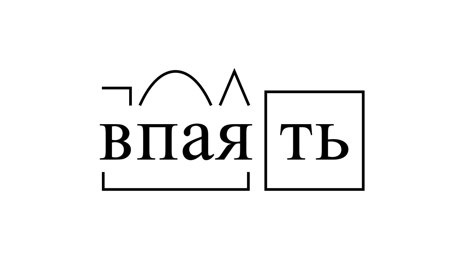 Разбор слова «впаять» по составу