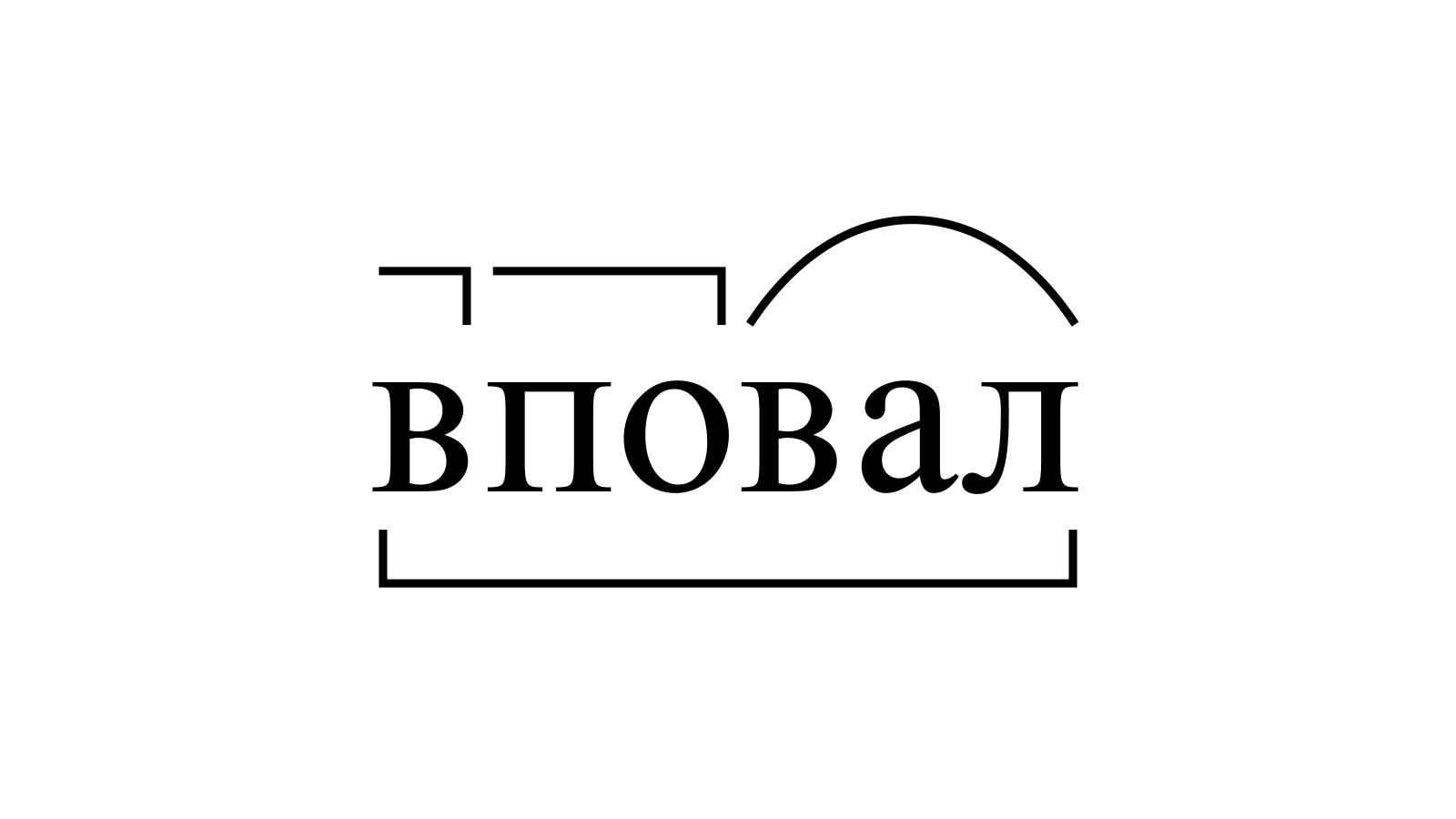 Разбор слова «вповал» по составу