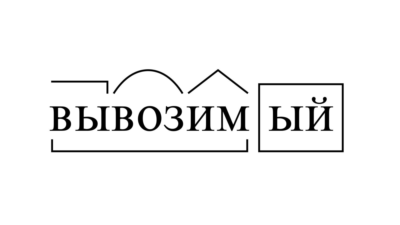 Разбор слова «вывозимый» по составу