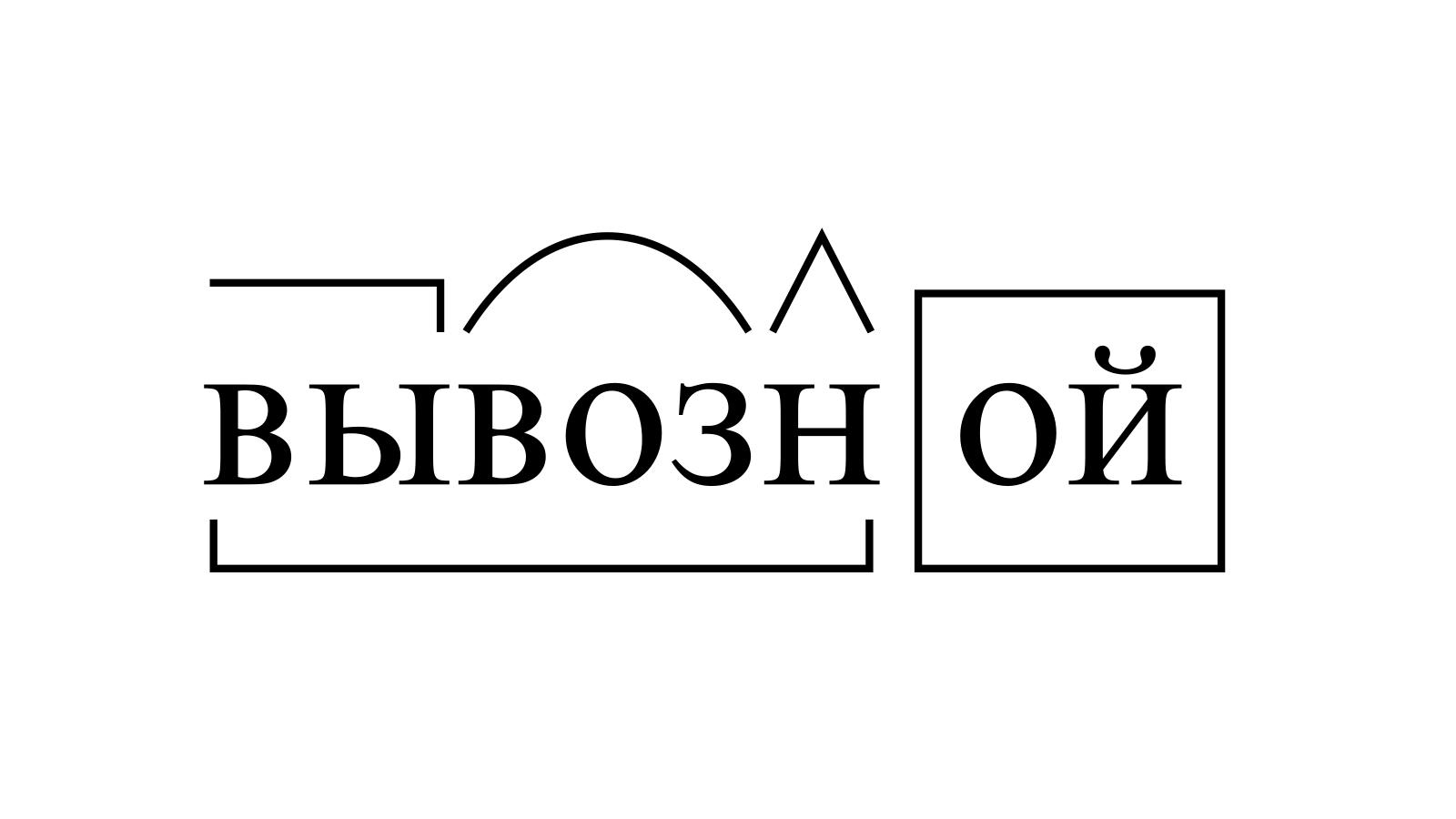 Разбор слова «вывозной» по составу