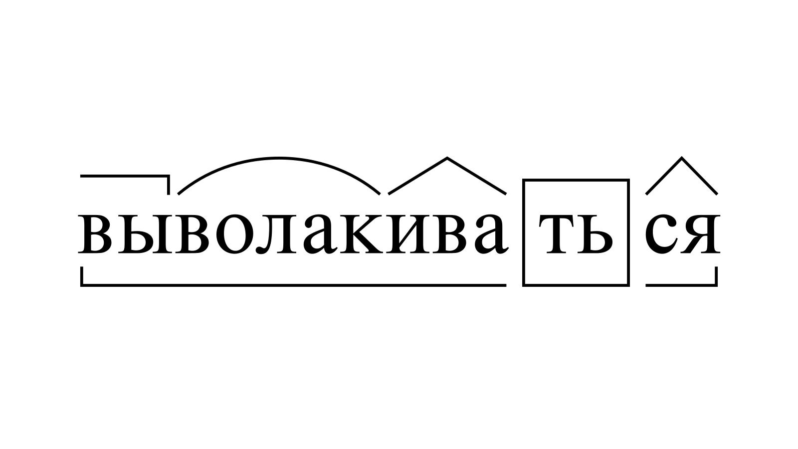 Разбор слова «выволакиваться» по составу
