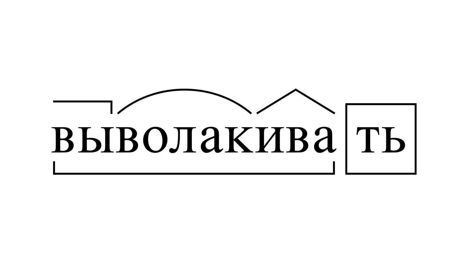 Разбор слова «выволакивать» по составу