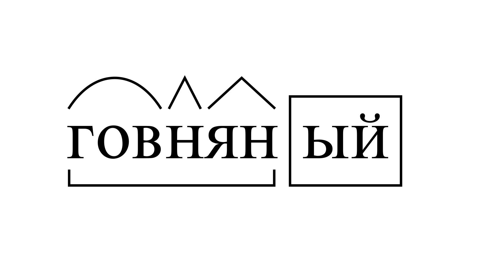 Разбор слова «говняный» по составу