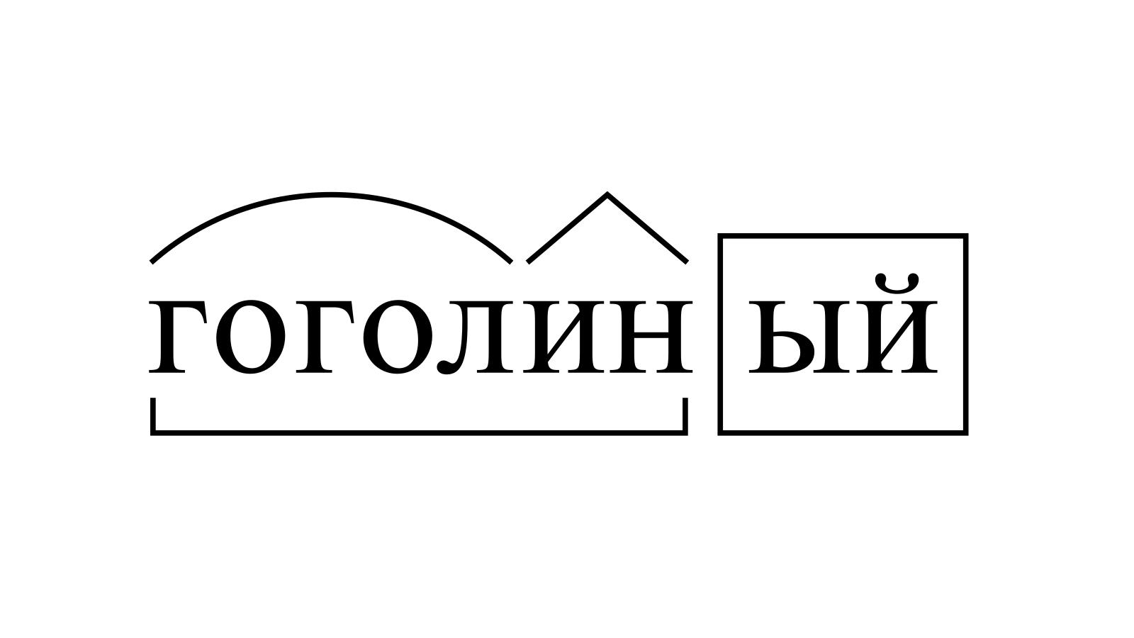 Разбор слова «гоголиный» по составу