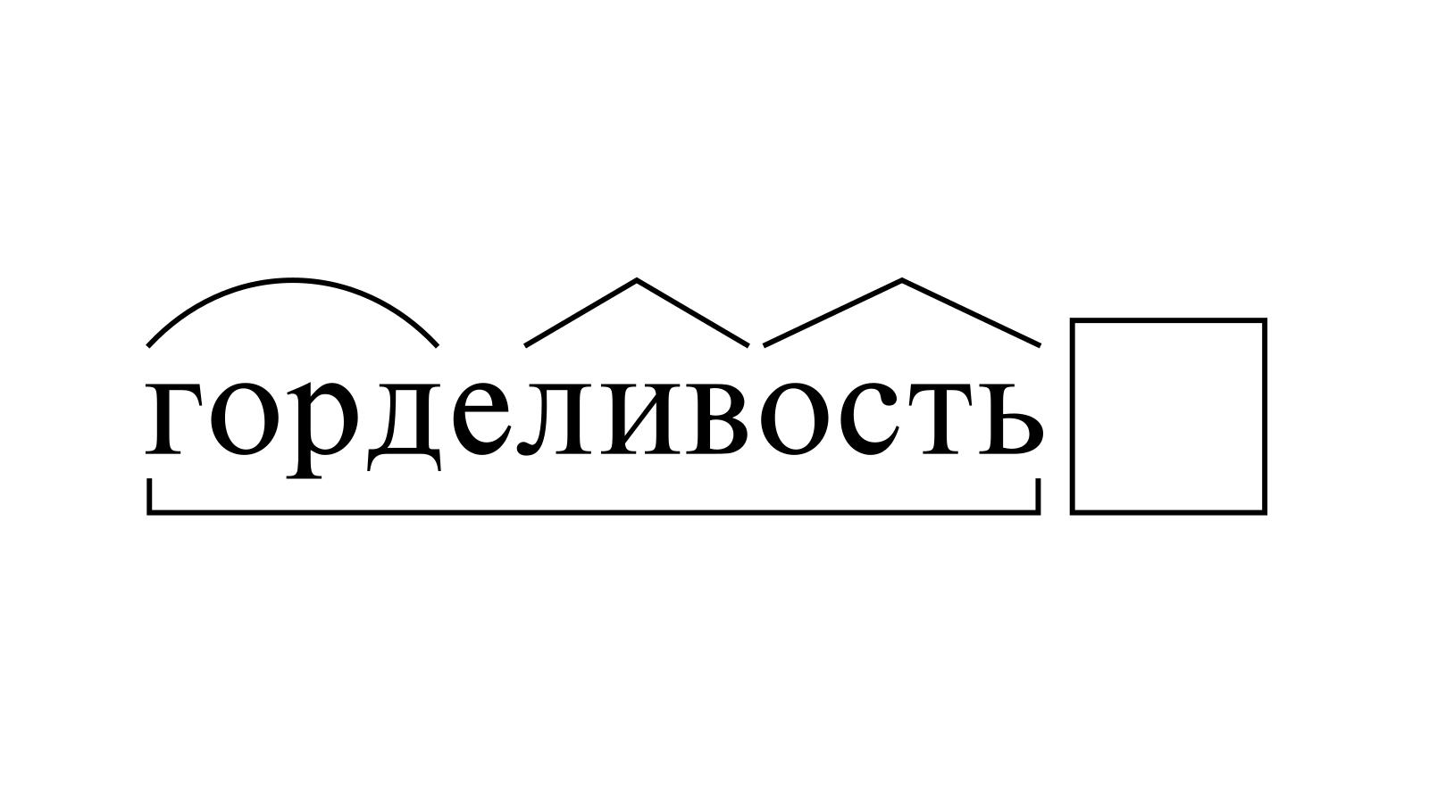Разбор слова «горделивость» по составу