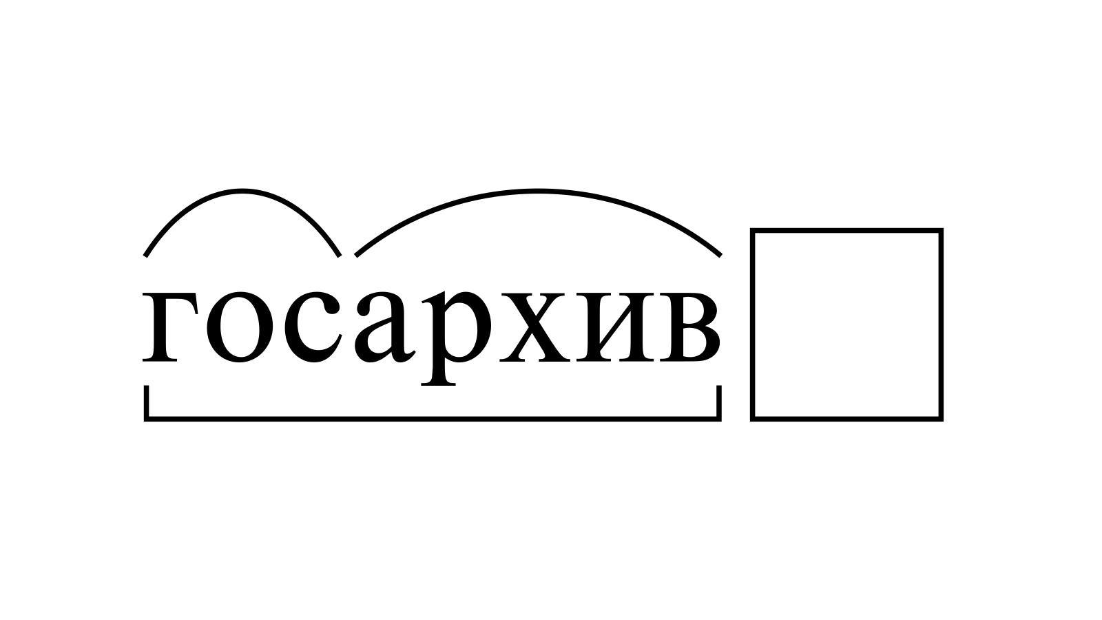 Разбор слова «госархив» по составу