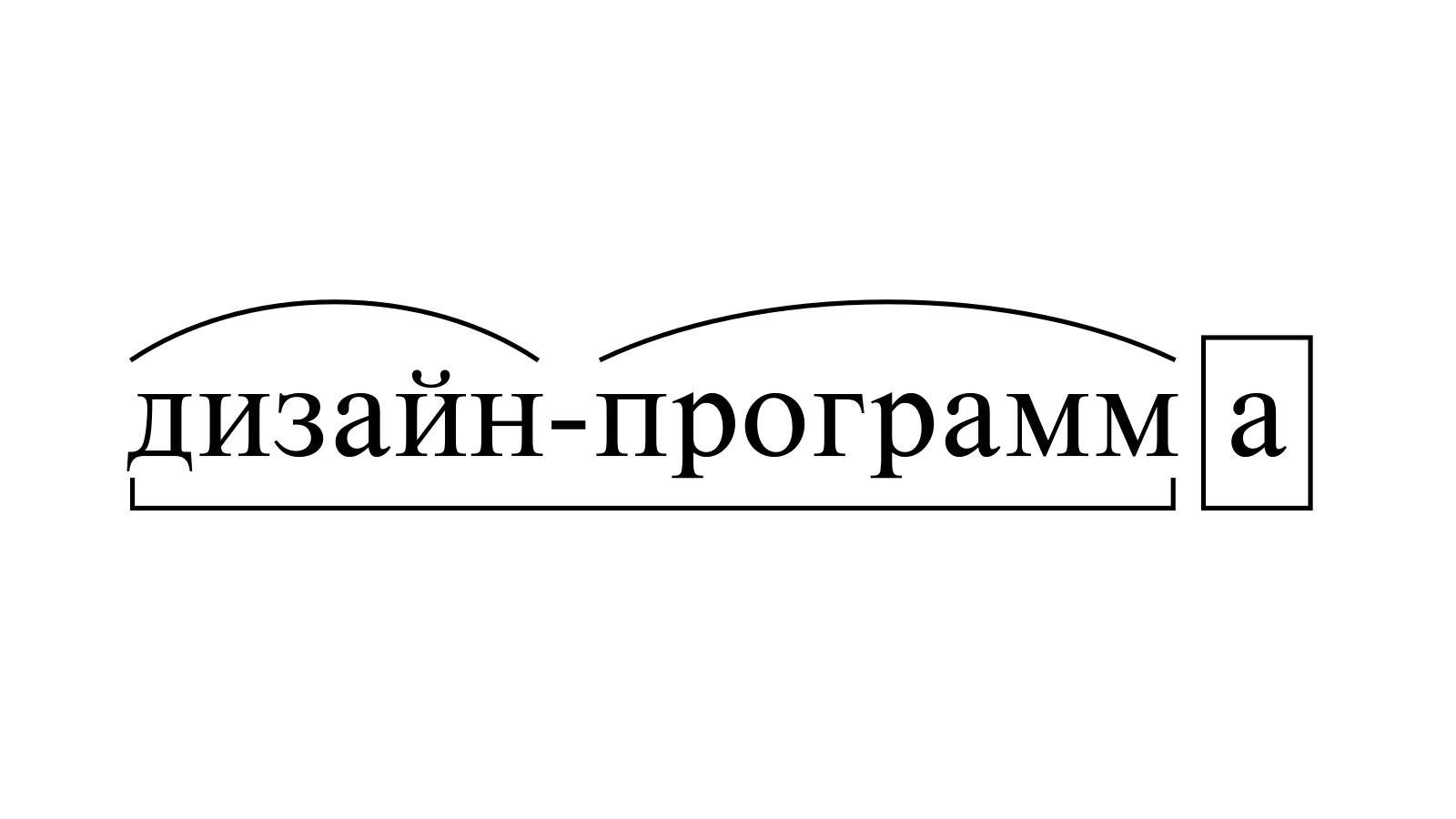 Разбор слова «дизайн-программа» по составу