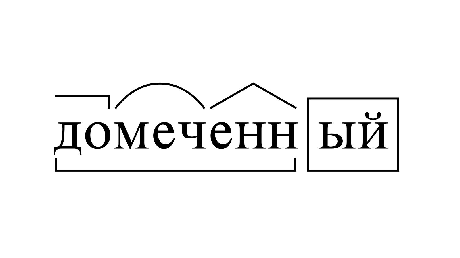 Разбор слова «домеченный» по составу