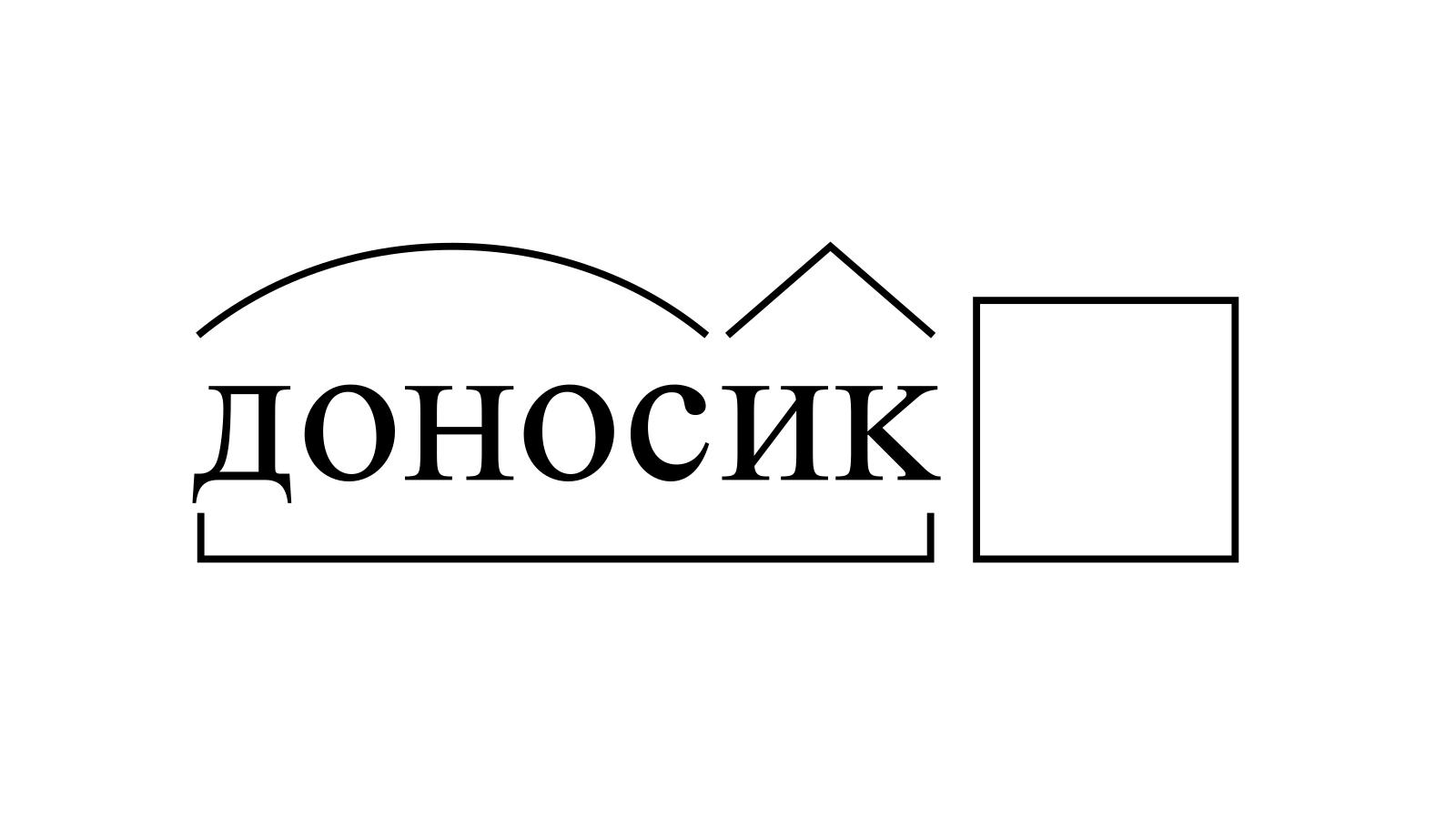 Разбор слова «доносик» по составу