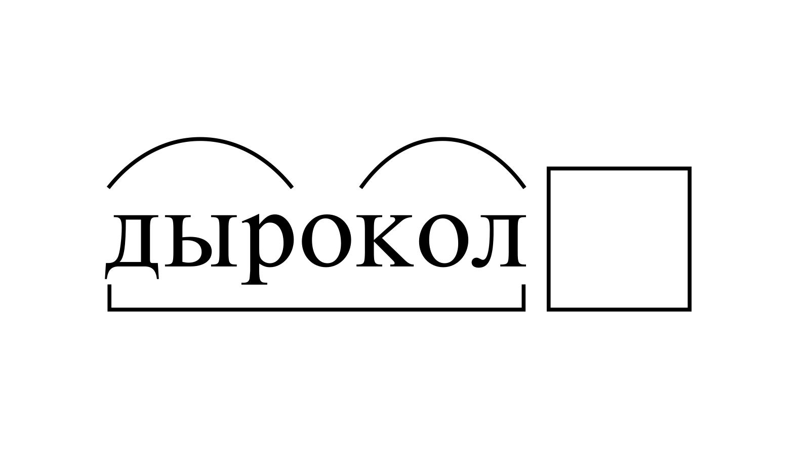 Разбор слова «дырокол» по составу