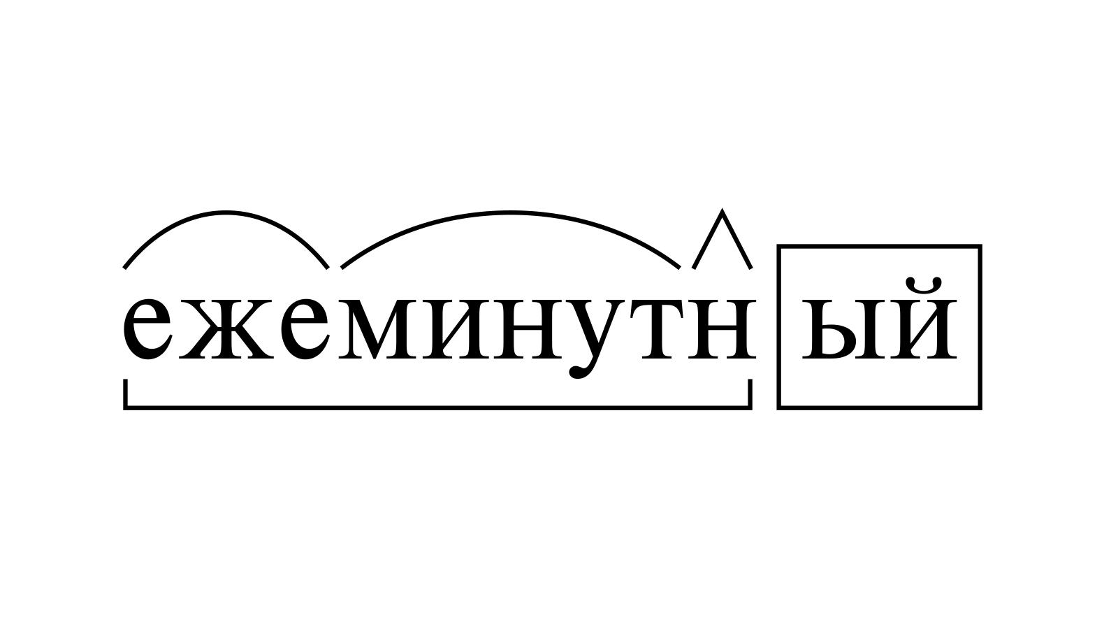 Разбор слова «ежеминутный» по составу