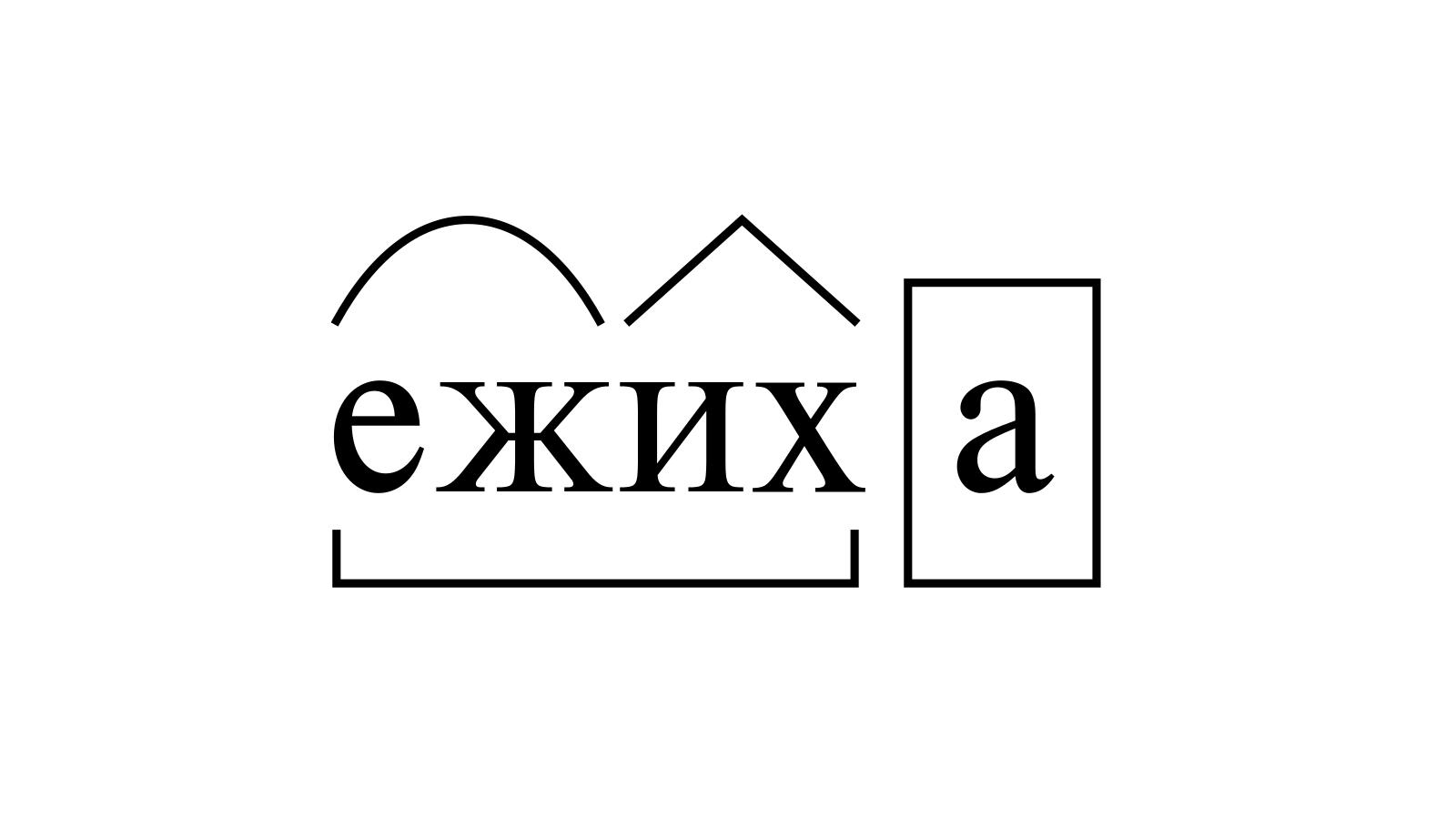 Разбор слова «ежиха» по составу