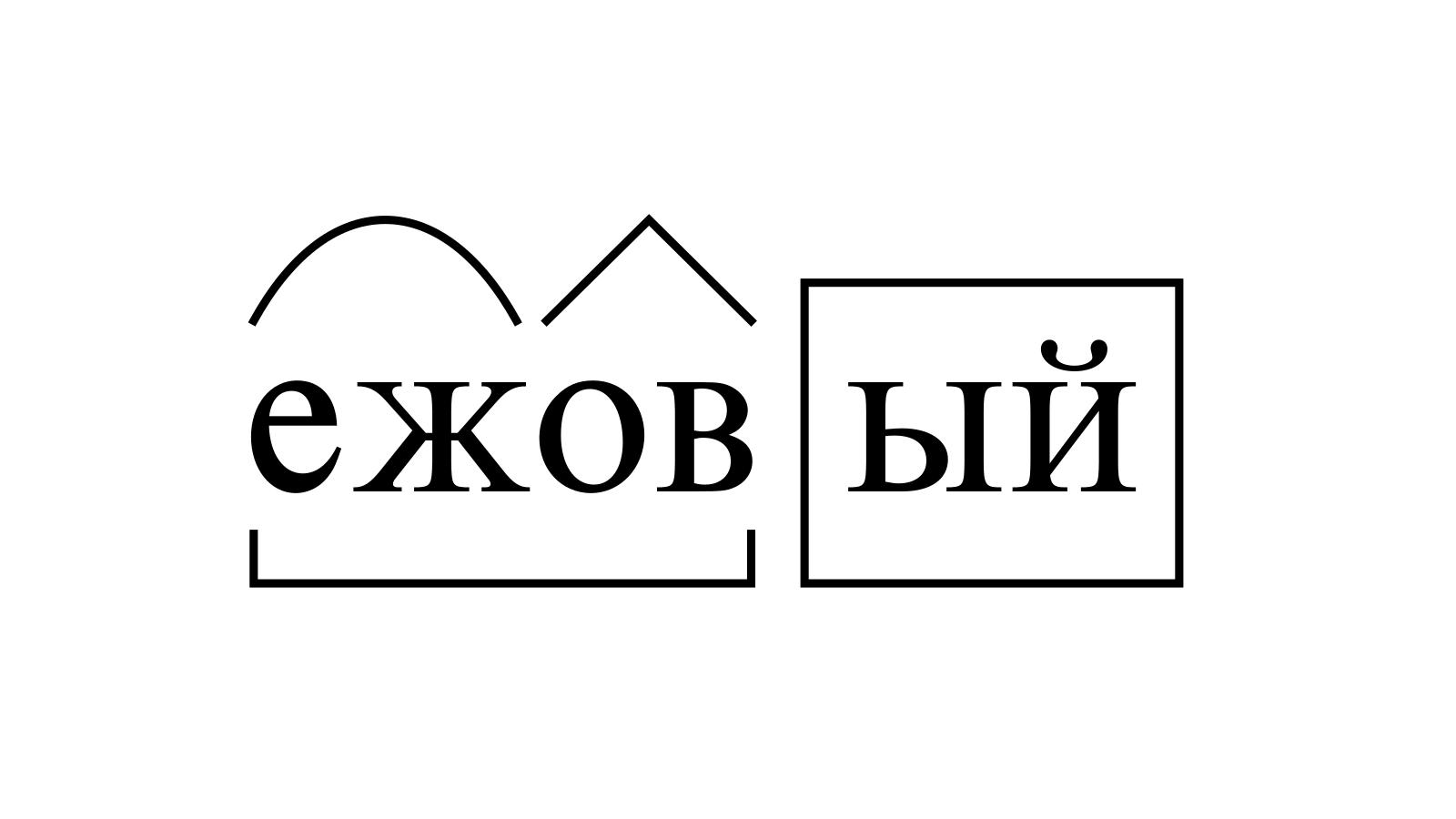 Разбор слова «ежовый» по составу