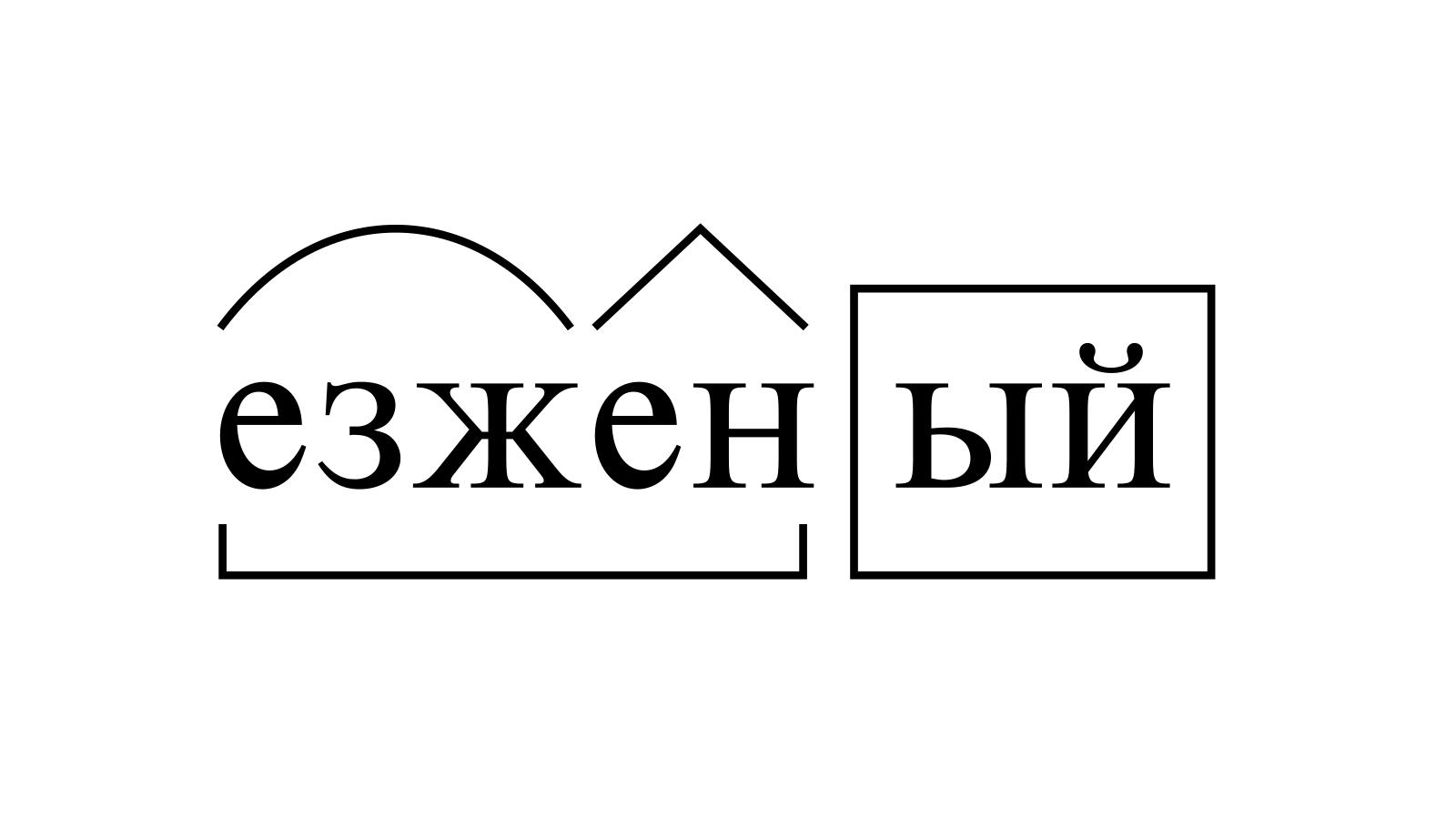 Разбор слова «езженый» по составу