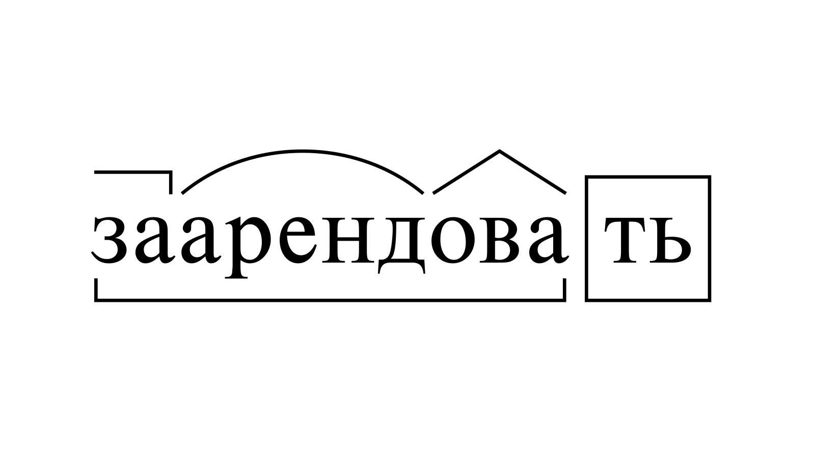 Разбор слова «заарендовать» по составу