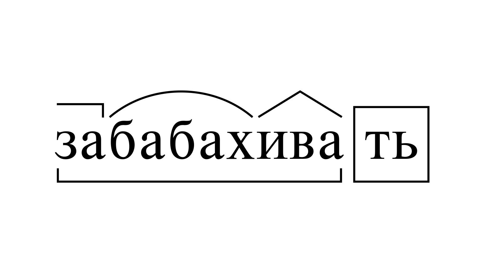 Разбор слова «забабахивать» по составу