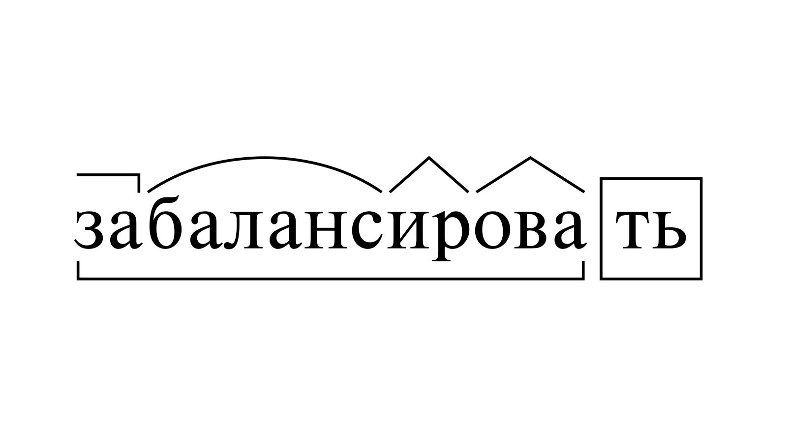 Разбор слова «забалансировать» по составу
