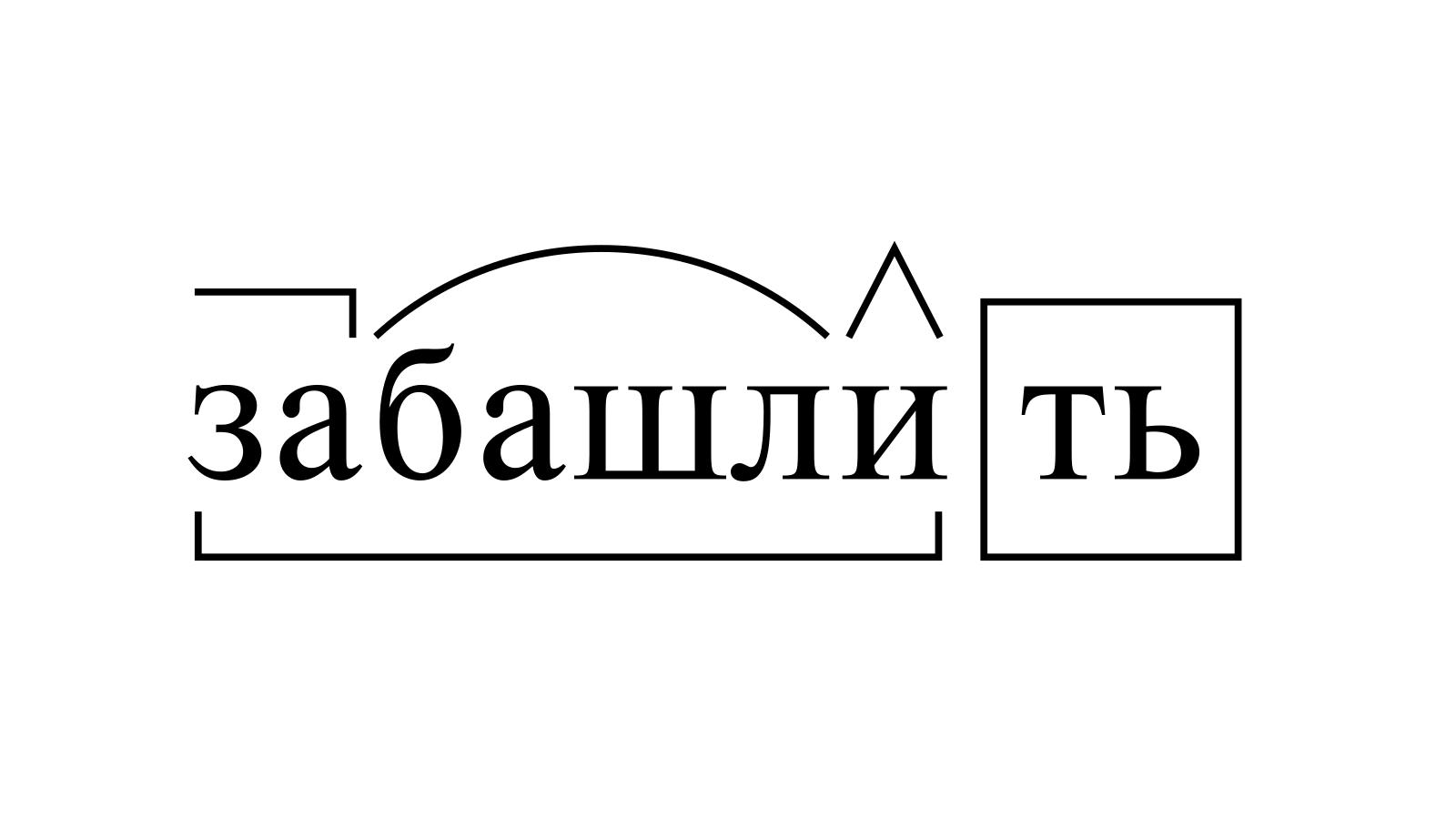 Разбор слова «забашлить» по составу