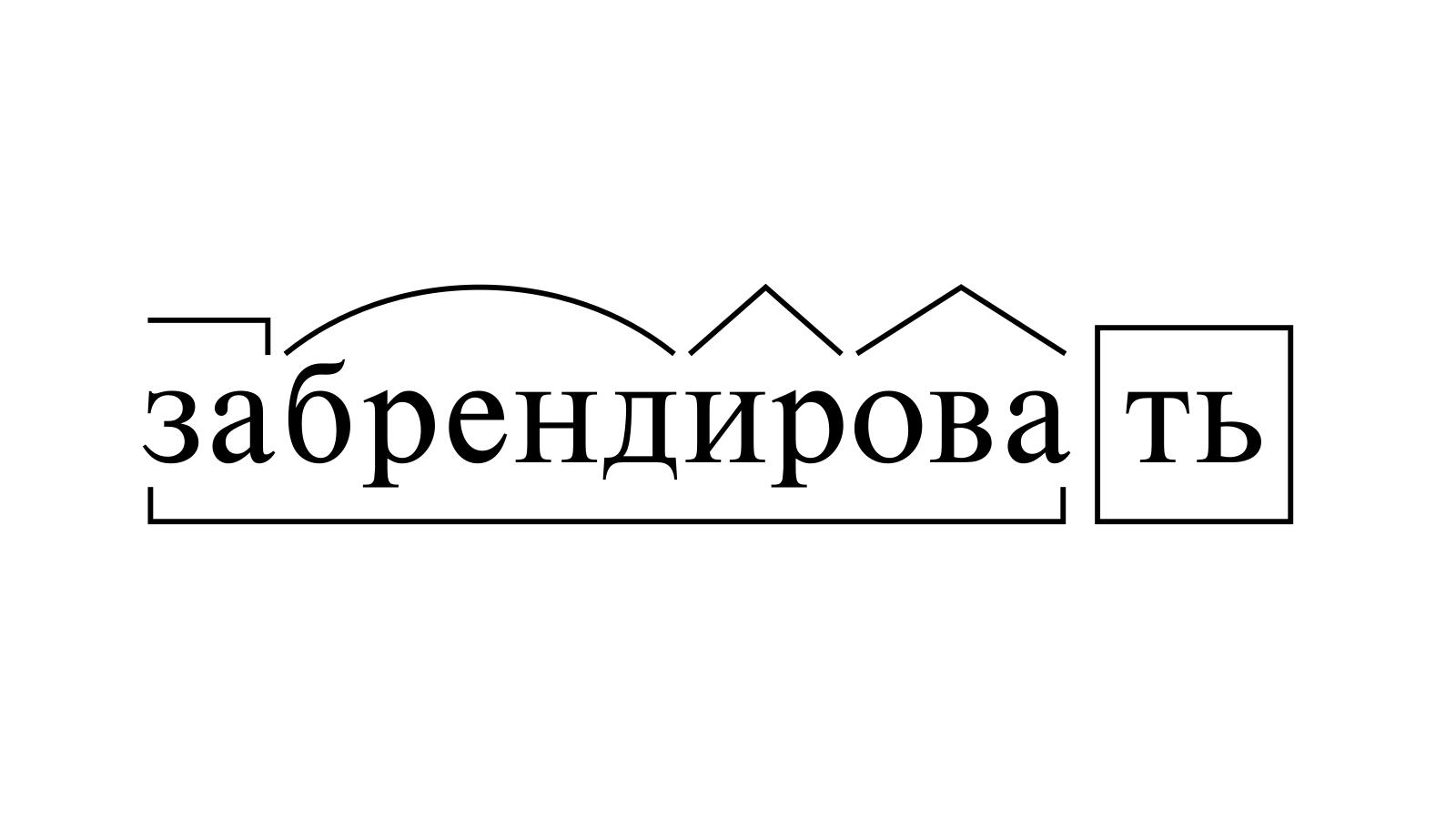 Разбор слова «забрендировать» по составу
