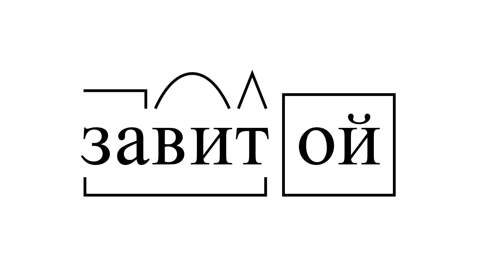 Разбор слова «завитой» по составу
