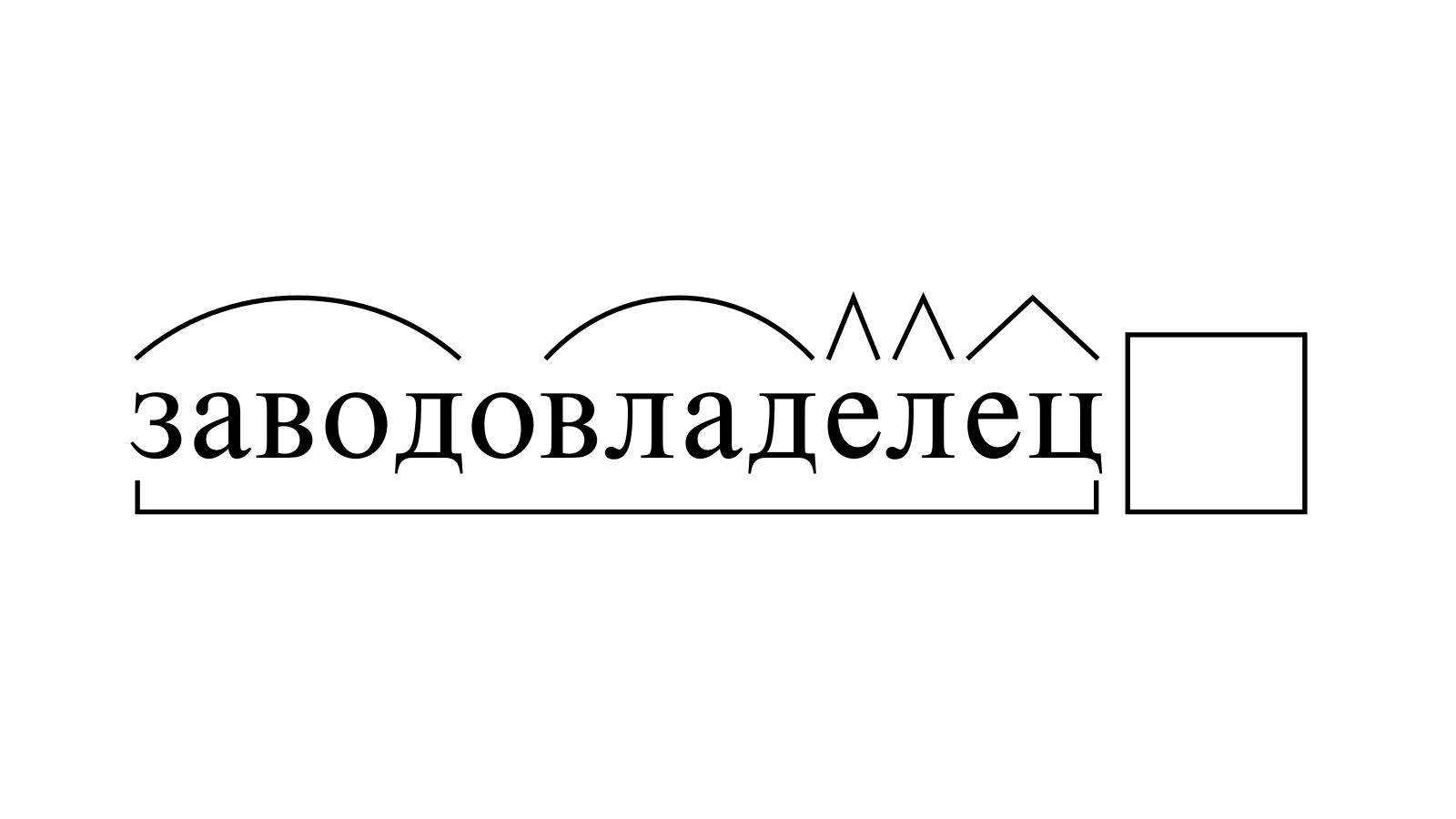 Разбор слова «заводовладелец» по составу