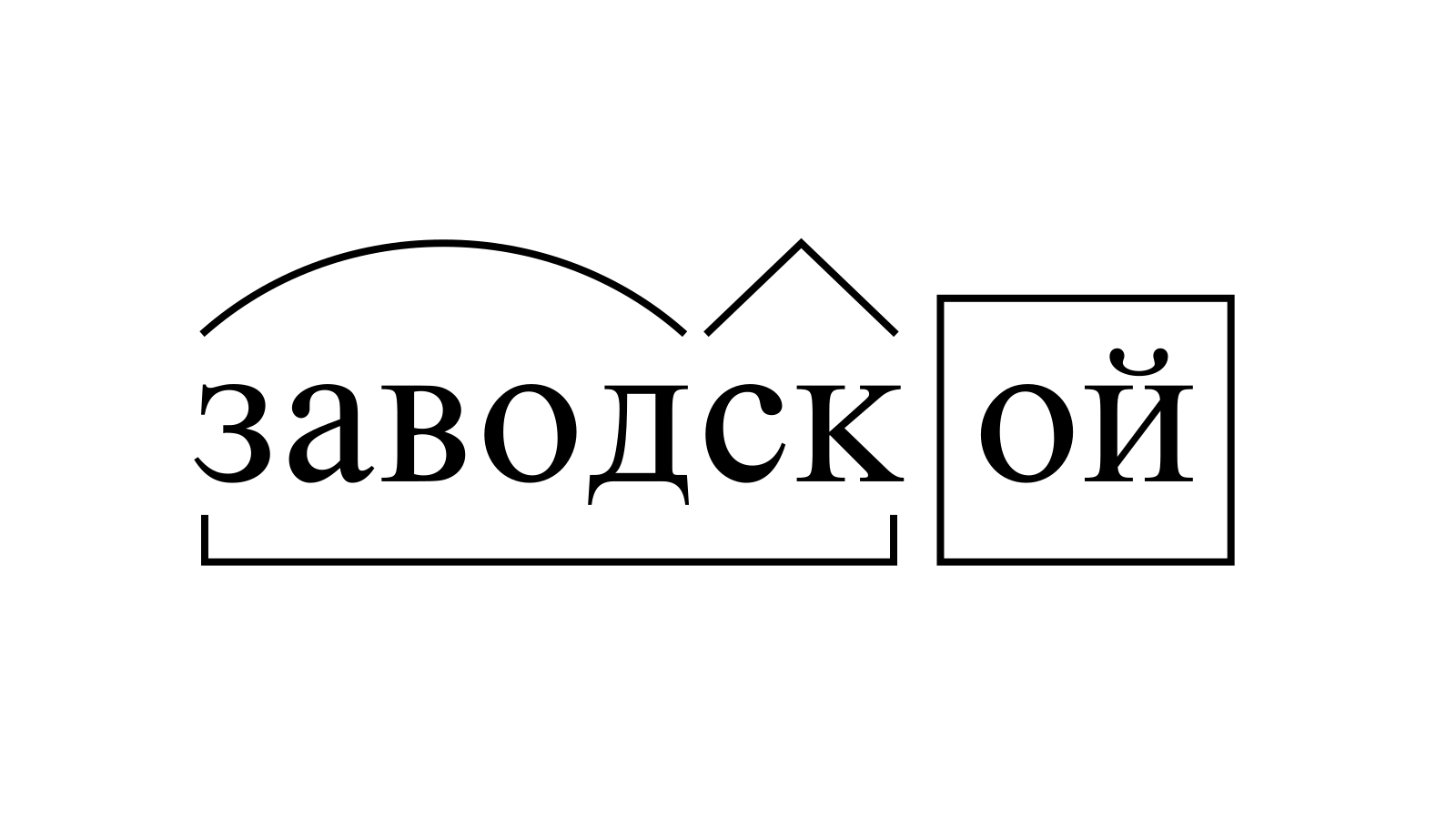 Разбор слова «заводской» по составу