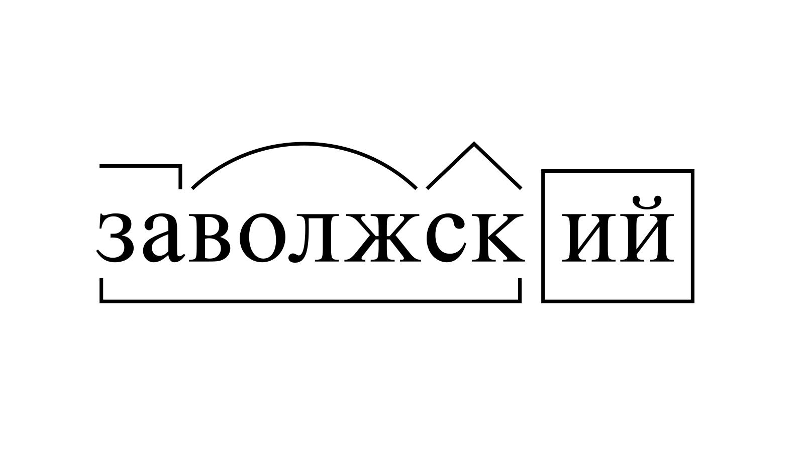 Разбор слова «заволжский» по составу