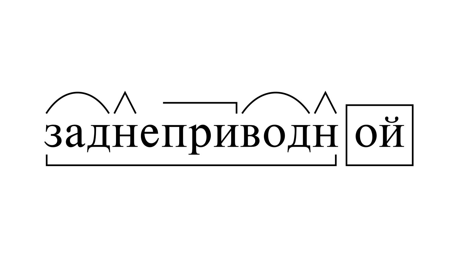 Разбор слова «заднеприводной» по составу